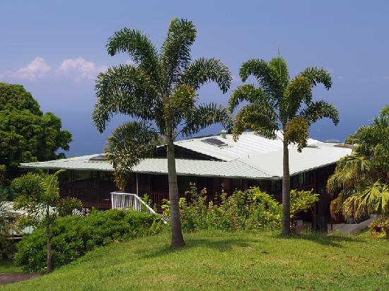 Aloha Guest House: House from adjoining lawn, toward ocean