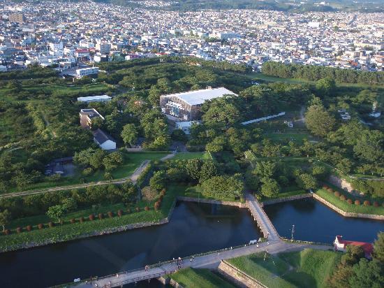 Goryokaku Tower: タワーより五稜郭を望む