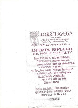 Torrelavega: menu