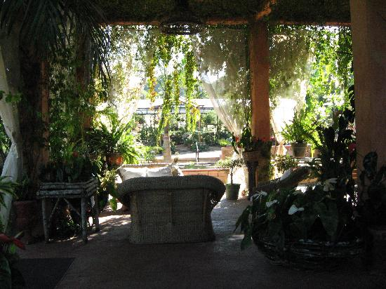 Vallarta Botanical Gardens: Lower Patio at the Plantation House