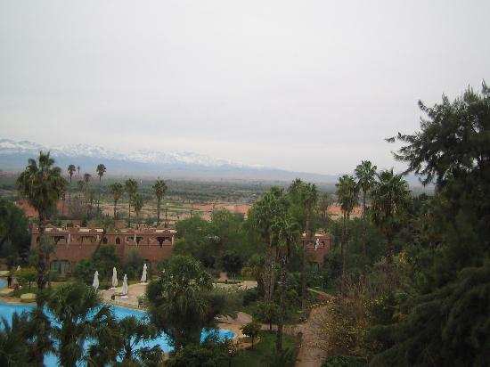 Es Saadi Gardens & Resort - Palace: View from our Terrace (South) Atlas Mtns