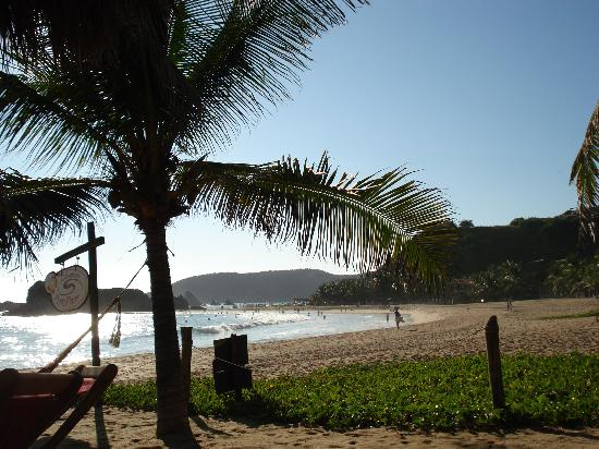 Punta Placer Bungalows: View from a Punta Placer beach chair