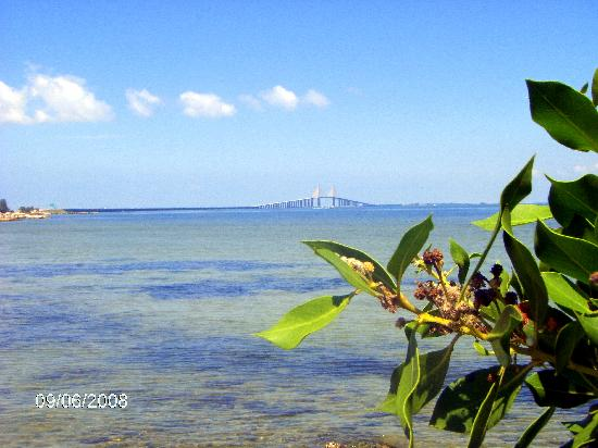 Veranda Beach Club: View of Skyview Bridge from Tampa to Anna Maria Island