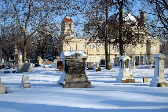 Bohemian National Cemetery: Winter View