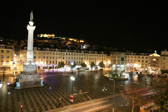 Rossio Hostel Lisbon - Vue sur la Praça Dom Pedro IV