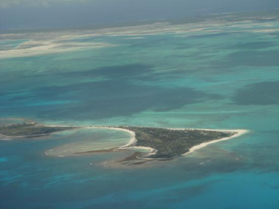 Kiritimati, Kiribati Cumhuriyeti: flying over the lagoon
