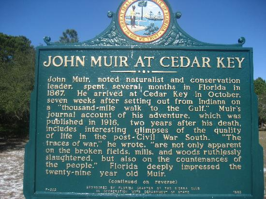 Thousand Palms RV Resort: Local Cedar Key & John Muir Info