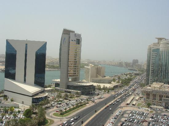 Hilton Dubai Creek : View from one side of hotel