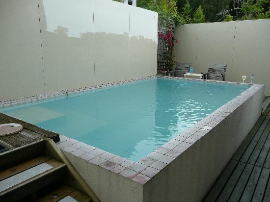 Ledwich Lodge Motel: thermally heated pool behind the property