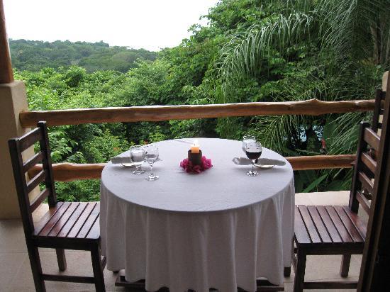 Casa Chameleon Hotel Mal Pais: private dinner