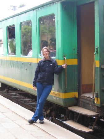 Fianarantsoa Cote Est (FCE): me before the train departs