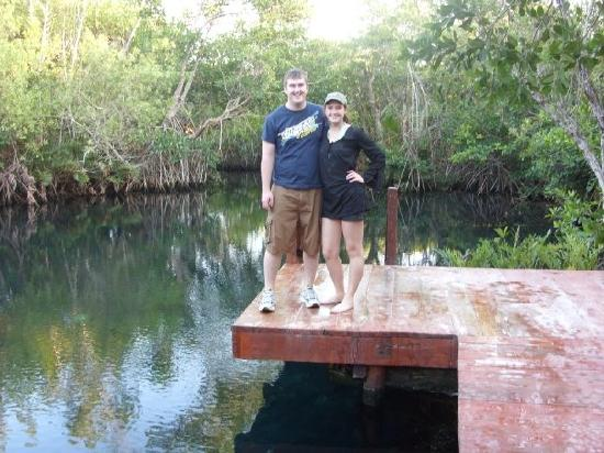 Hacienda Tres Rios : Cenote- this is where you start the snorkel/kayak tour- JUMP IN!