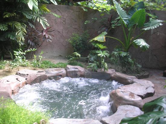 Sungkai, Malaysia: the private jacuzzi/hot pool