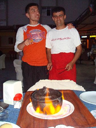Oya Apartments: halis bar manager and  salih the chef of  oya also good friends of ous now as they keep in touch