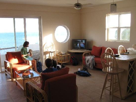 Seaside Villas Condos: Living room -- unit #6