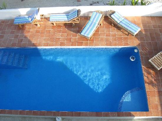 Seaside Villas Condos: View of pool from our porch