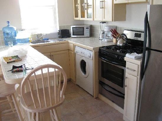 Seaside Villas Condos: Kitchen. Note front-loading washing machine