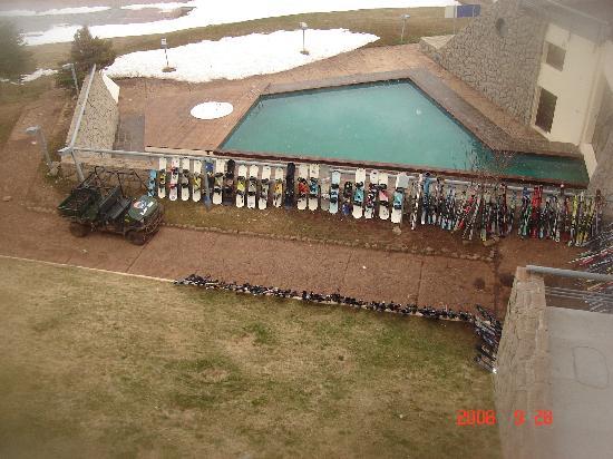 Las Lenas: Vista de la piscina in-out