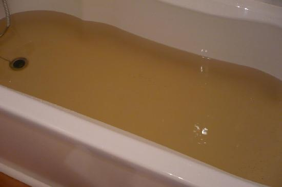 Portsonachan Hotel: Nope I'm not that dirty, this is the water straight out of the tap