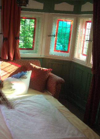 Hotel-Garni Hornburg: il divano-letto nel bovindo