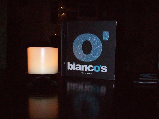 Bianco's: The menu - my 8 year old thought it was cool!
