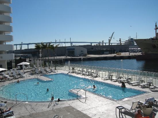 Hilton San Diego Bayfront Pool 12 30 08 Picture Of