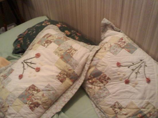 Pine Hill Arms Hotel & Restaurant: The assortment of pillows/shams