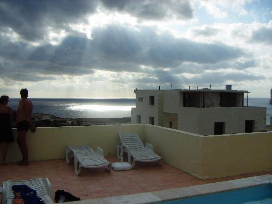 Sunset from Villa Bronja's pool