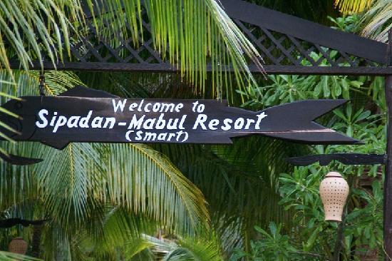 Pulau Mabul, Malaysia: 看板