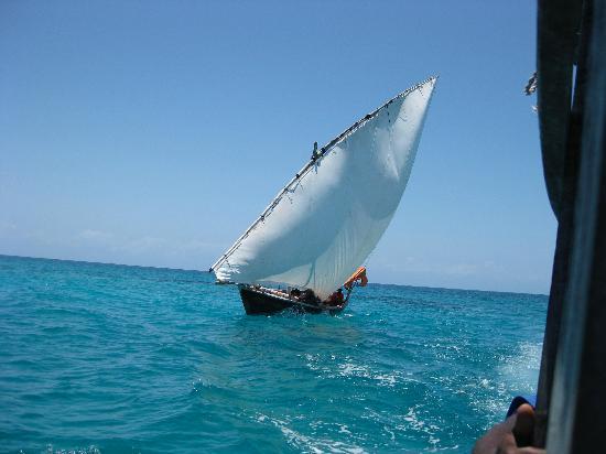 Fumba Beach Lodge: A dhow boat