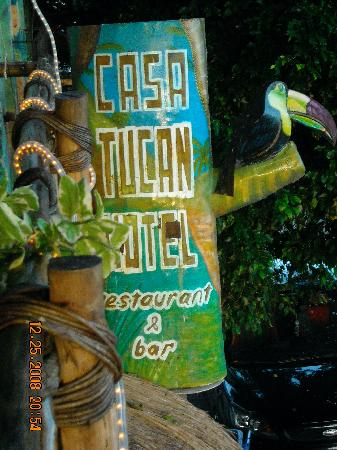 Hotel Casa Tucan: the sign for the hotel