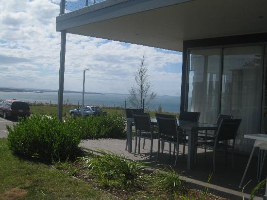 Silverwater Resort: view of our verandah and beyond