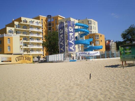 Kiten, Bulgaria: Residence vue de la plage