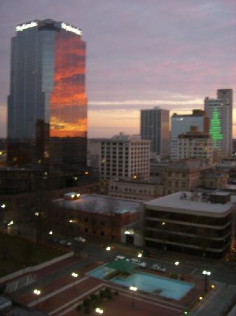 Doubletree Hotel Little Rock: view from our room at sunset