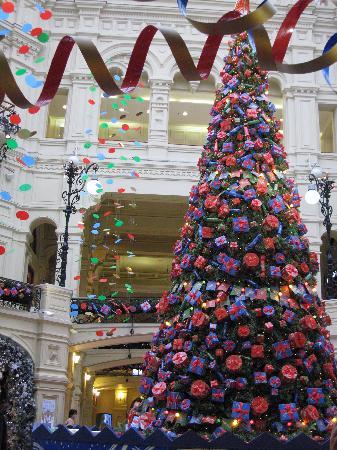 Ararat Park Hyatt Moscow: X Mas tree in TSUM