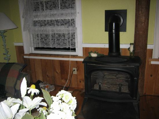 Black Walnut Inn : Carhart room: Gas stove