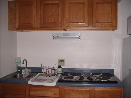 Sunrise Motel: Kitchenette in apt full fridge and microwave