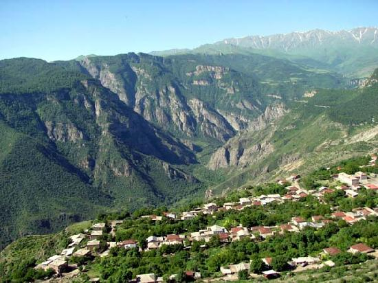 Goris is surrounded by lovely green mountains