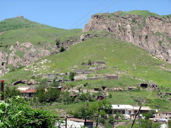 Goris, Armenia: these caves, once used as primitive homes, are now used for livestock and storage