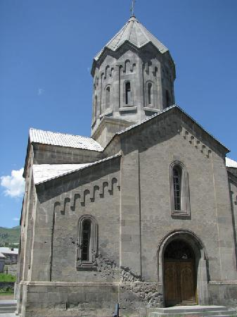 Goris, Armenia: this cathedral was damaged by an artillery shell during the war with Azerbaijan