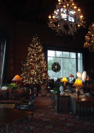 Young Harris, GA: Lobby at Christmas