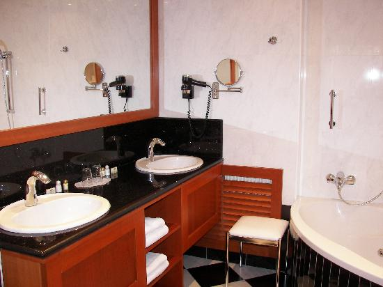 Hotel Pension Corvinus: Elgant Bathroom
