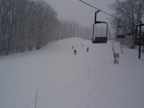 Caberfae Peaks: ski slope (as seen from chair lift)