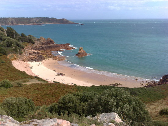 Джерси, UK: Beauport Bay - the most photographed bay in Jersey apparently