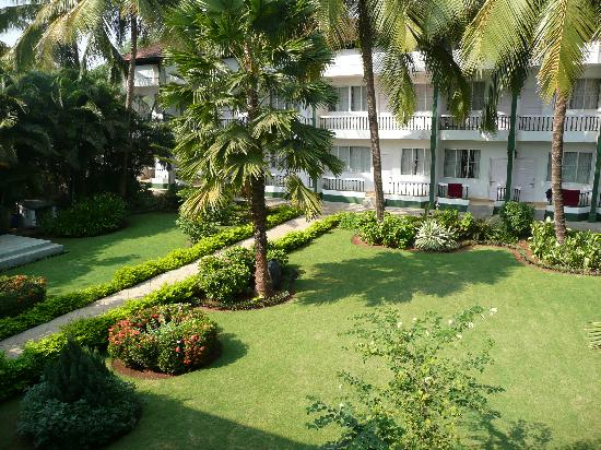 Sea Mist Resort: View of hotel garden from our balcony