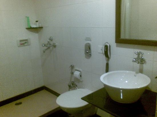 Hotel Aroma Executive: Great bathroom