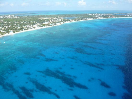 Cayman Islands Helicopters Seven Mile Beach From The Sky