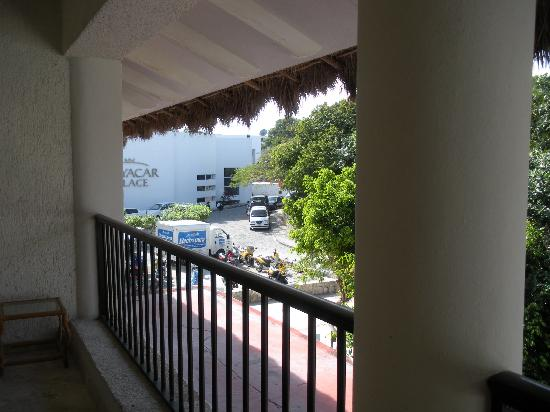 Plaza Marina Condos: Balcony view to the right, view of Playacar Palace