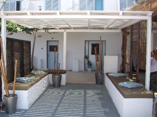 Hotel Ios Plage: l'entrée de l'hotel