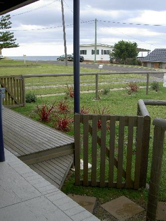 Secrets of the Sea: view from front door looking out to Racecourse beach.
